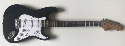 Brian Wilson and Al Jardine Signed Electric Guitar – £299